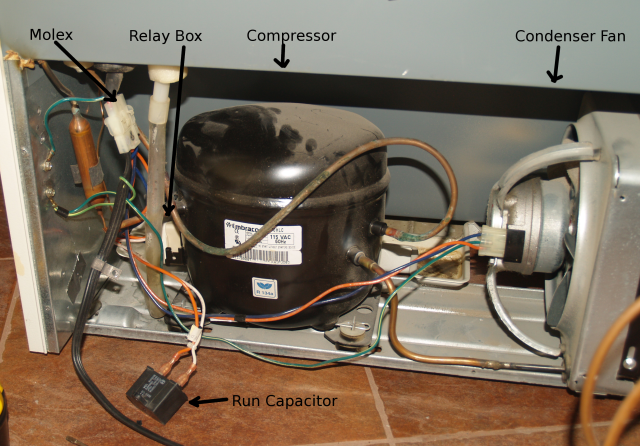getting your refrigerator to run without a start relay while you rh tech akom net Hot Water Heater Thermostat Wiring Diagram Oven Thermostat Wiring Diagram