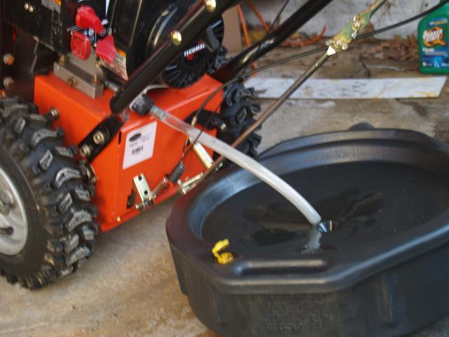 Snowblower oil change with no mess - Akom's Tech Ruminations